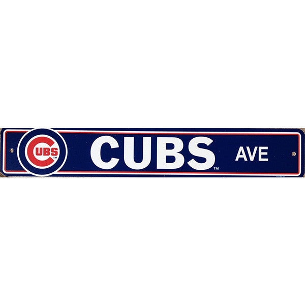 "Chicago Cubs Street Sign - 4""x24"""