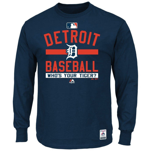 "Detroit Tigers Shirt - MLB Authentic ""Team Property"" Long Sleeve T-Shirt"