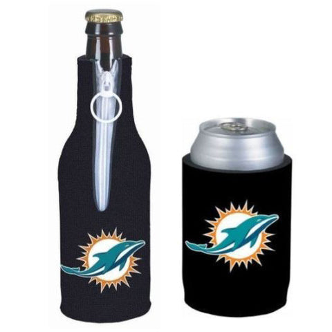 Miami Dolphins Koozie - Can & Bottle Koozie Combo