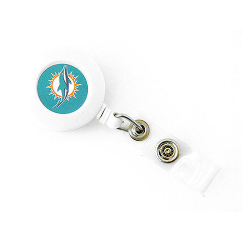 Miami Dolphins Retractable Lanyard W/ Clip