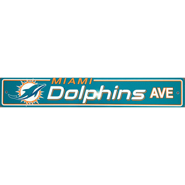 "Miami Dolphins Street Sign - 4""x24"""