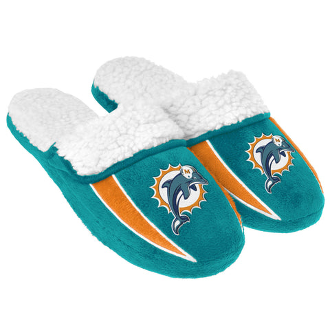 Miami Dolphins Sherpa Slide Slippers