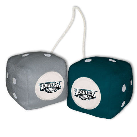 Philadelphia Eagles Dice - Plush Fuzzy Dice