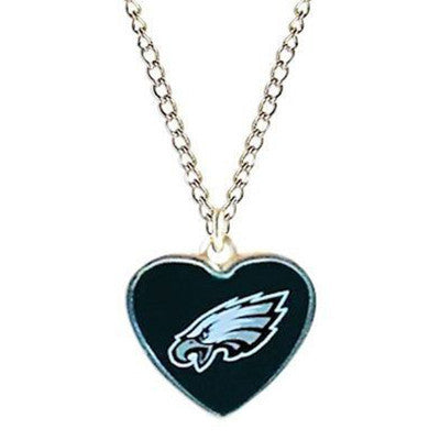 Philadelphia Eagles Necklace - Logo Heart Necklace