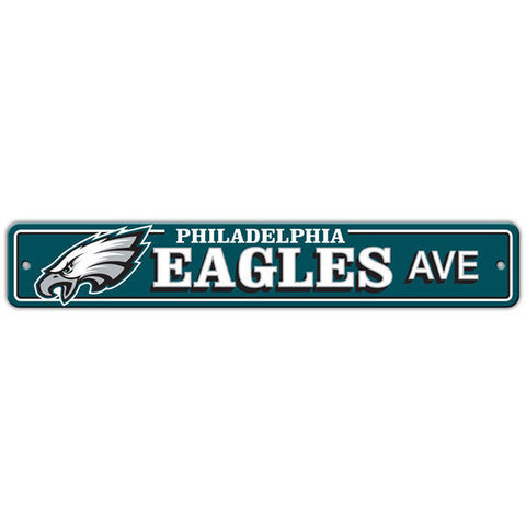 "Philadelphia Eagles Street Sign - 4""x24"""