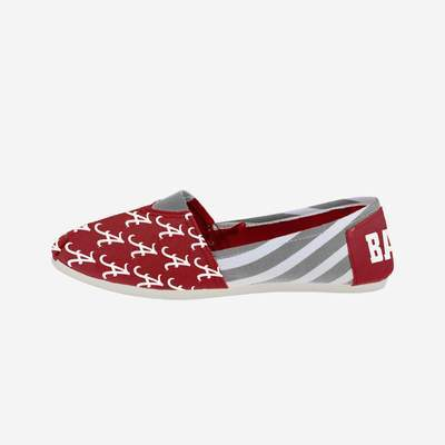Alabama Crimson Tide Shoes - Womens Stripe Canvas Shoe