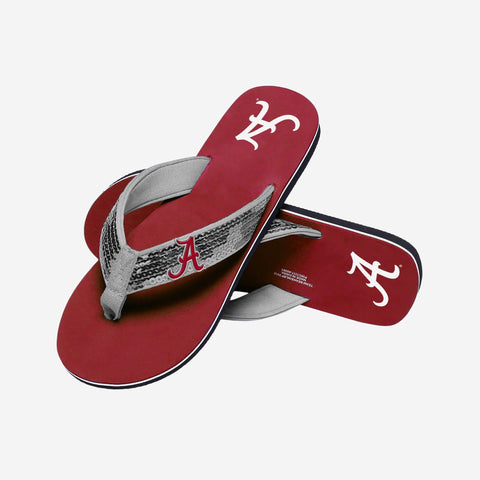 Alabama Crimson Tide Slides - Womens Sequin Flip Flop