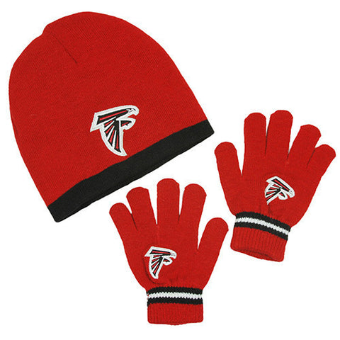 Atlanta Falcons Hat - Kid's Knitted Winter Hat And Gloves Set