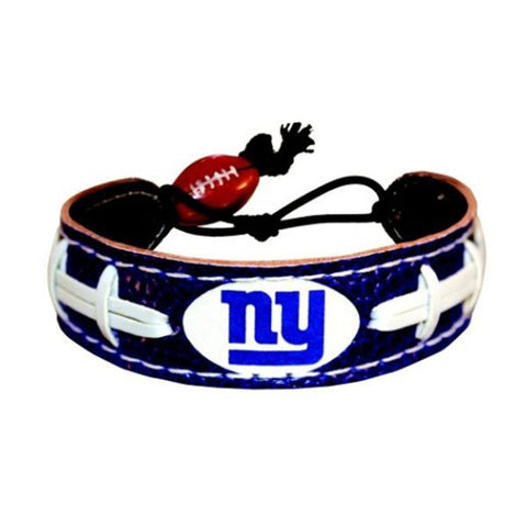 New York Giants Bracelet - Leather Football Bracelet