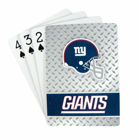 New York Giants Playing Cards - Diamond Plate Playing Cards