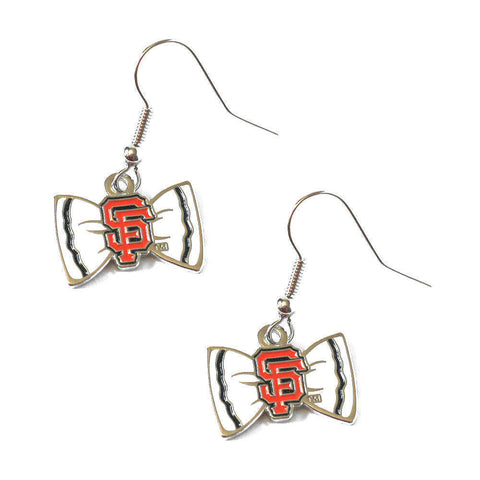 San Francisco Giants Earrings - Bow-Tie Dangle Earrings
