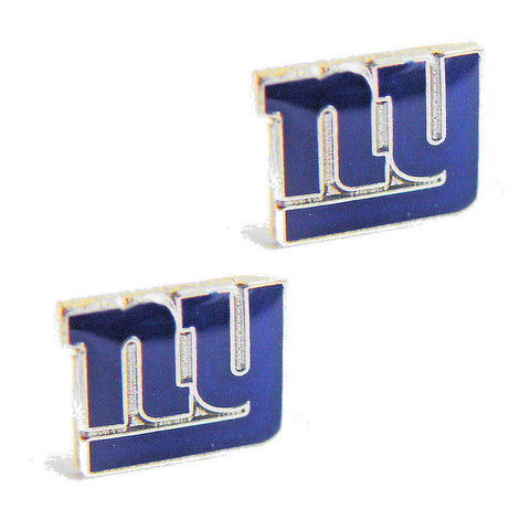 New York Giants Earrings - Logo Stud Earrings
