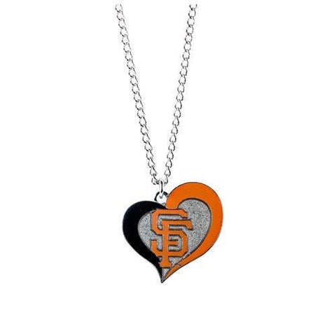 San Francisco Giants Necklace - Swirl Heart Logo Necklace