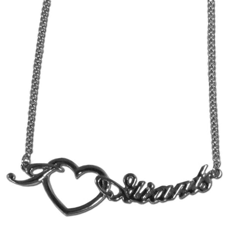 New York Giants Necklace - Heart Script Necklace