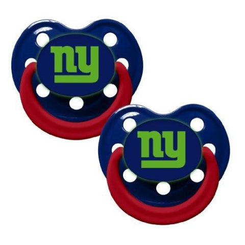 New York Giants Baby Pacifiers - Glow In The Dark -  Pack Of 2
