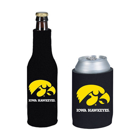 Iowa Hawkeyes Can & Bottle Koozie Combo
