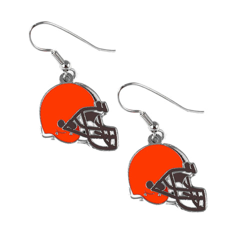 Cleveland Browns Earrings - Helmet Dangle Earrings