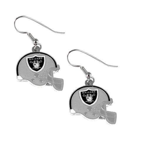 Oakland Raiders Earrings - Helmet Dangle Earrings