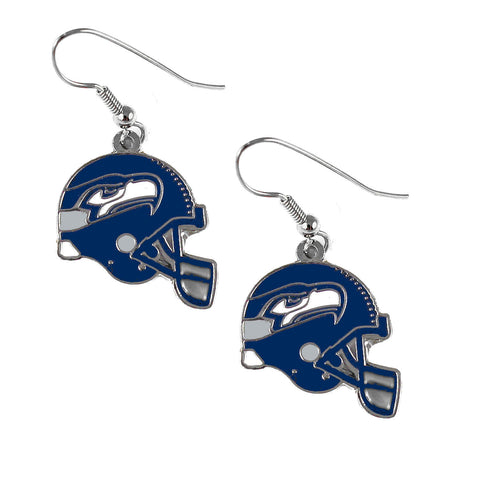 Seattle Seahawks Earrings - Helmet Dangle Earrings