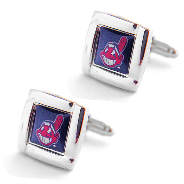 Cleveland Indians Cuff Links -Square