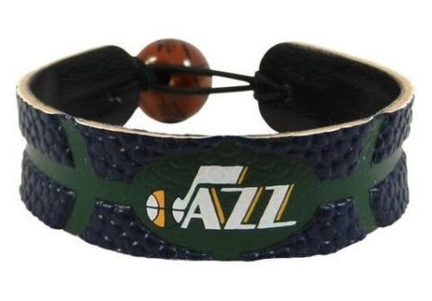 Utah Jazz Leather Basketball Bracelet