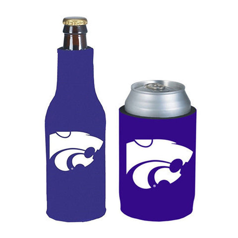 Kansas State Wildcats Koozie - Can & Bottle Koozie Combo