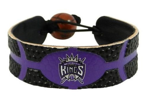 Sacramento Kings Leather Basketball Bracelet