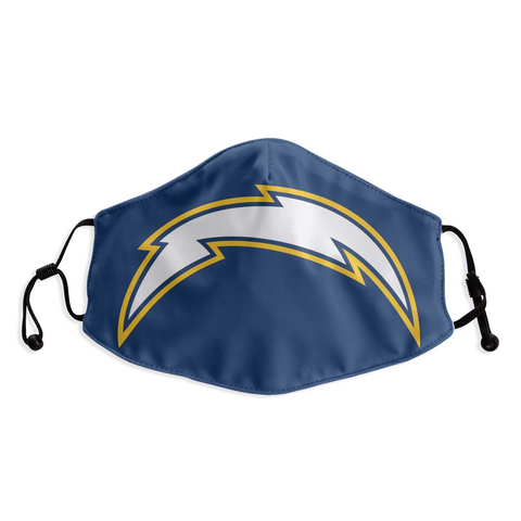 Los Angeles Chargers Face Mask- Reuseable, Fashionable, Washable