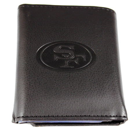San Francisco 49ers Black Leather Tri-Fold Wallet