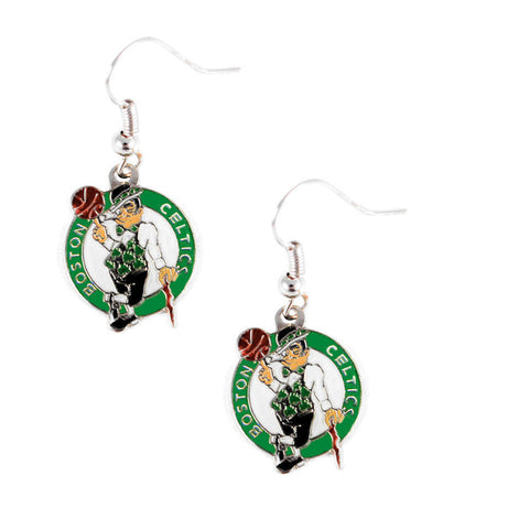 Boston Celtics Earrings - Logo Dangle Earrings