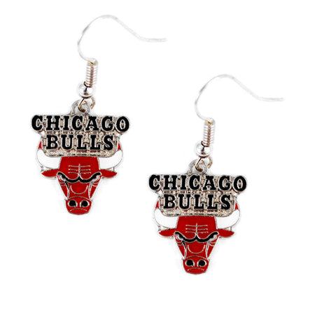 Chicago Bulls Earrings - Logo Dangle Earrings