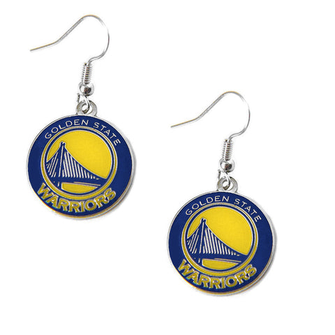 Golden State Warriors Logo Dangle Earrings