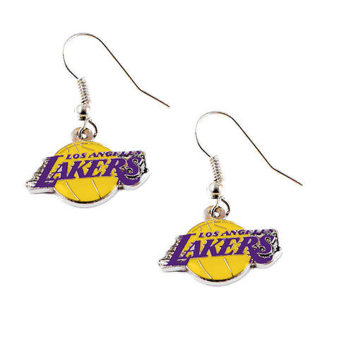 Los Angeles Lakers Logo Dangle Earrings