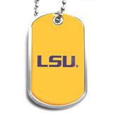 LSU Tigers Dog Tag Necklace