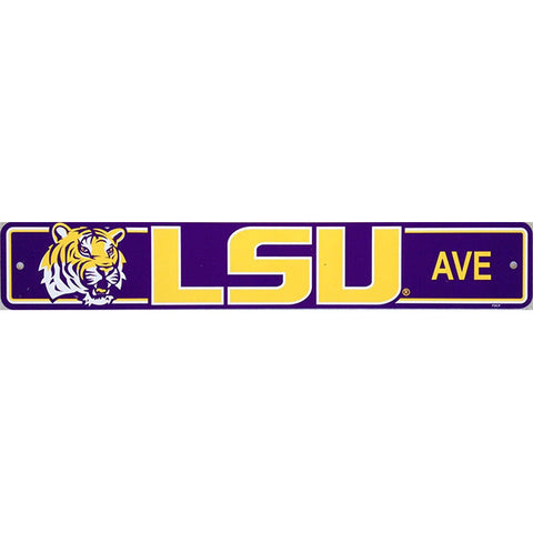 "LSU Tigers Street Sign - 4""x24"""
