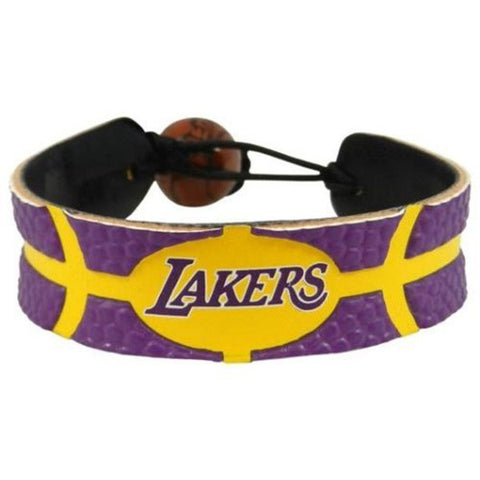 Los Angeles Lakers Leather Basketball Bracelet