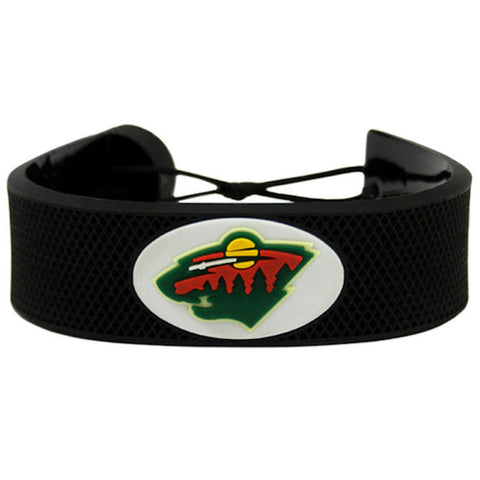 Minnesota Wild Rubber Hockey Bracelet