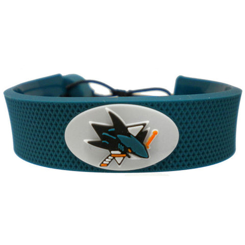 San Jose Sharks Rubber Hockey Bracelet