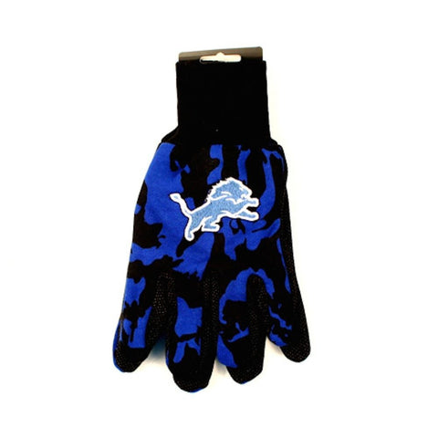 Detroit Lions Gloves - Camo Utility Work Gloves