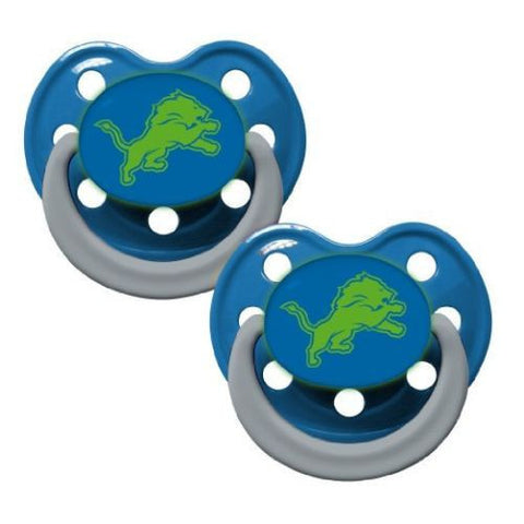 Detroit Lions Baby Pacifiers - Pack Of 2 -Glow In The Dark