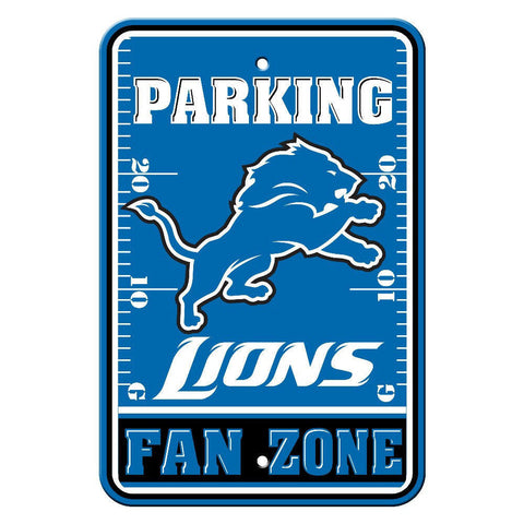 "Detroit Lions Sign - Parking Sign - 12"" x 18"""