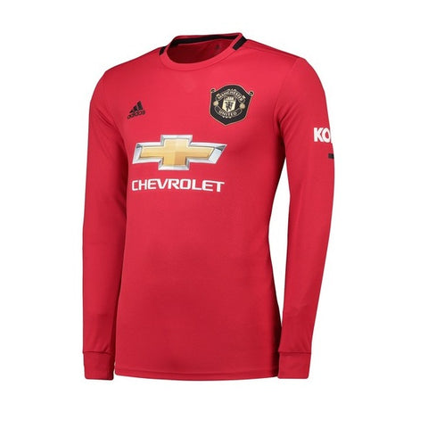 Manchester United Home Long Sleeve 19/20 Jersey - Custom Any Name or Number