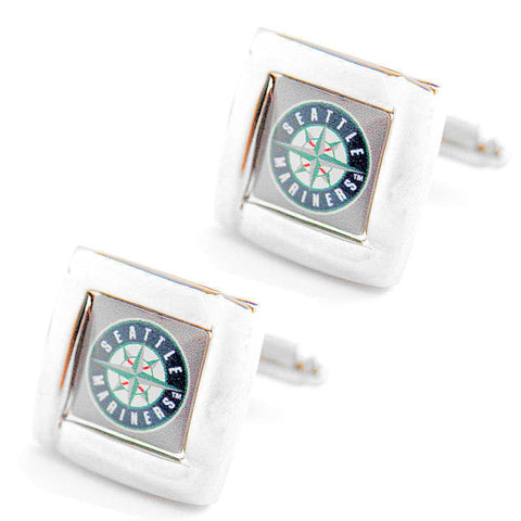 Seattle Mariners Square Cuff Links