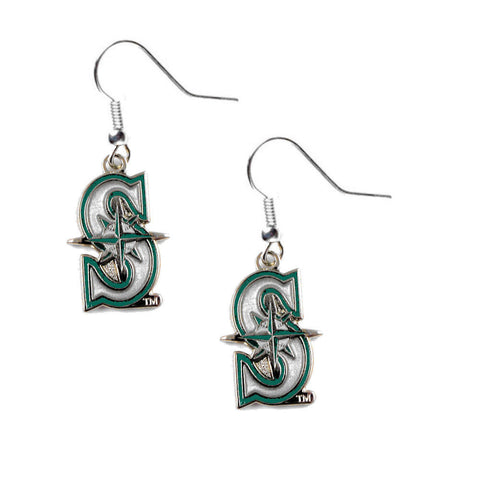 Seattle Mariners Logo Dangle Earrings