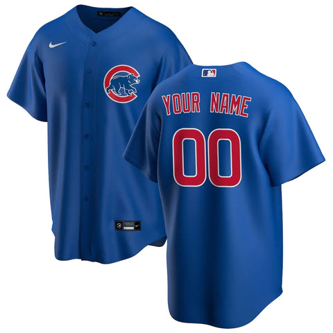 Chicago Cubs Jersey - Custom Name and Number - Blue