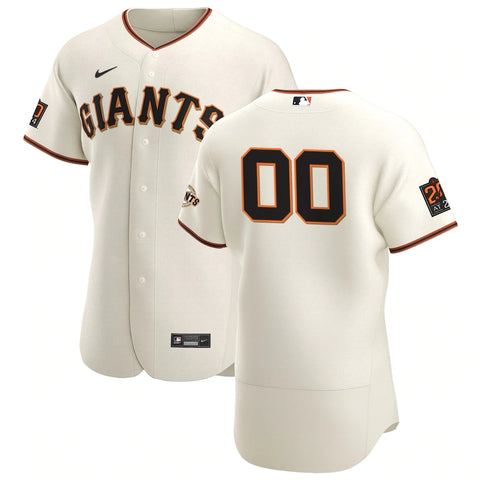 San Francisco Giants Jersey - Custom Name and Number - Cream with patches