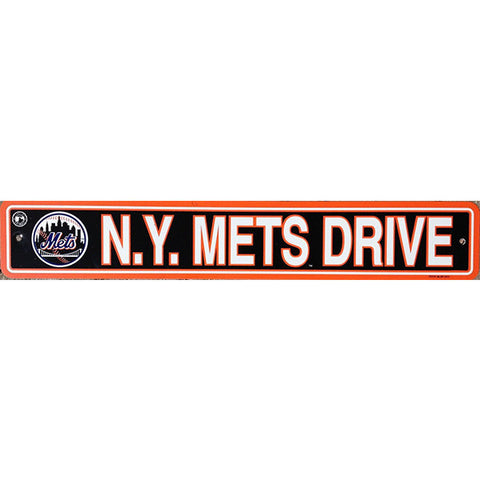 "New York Mets Street Sign - 4""x24"""