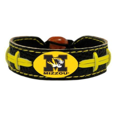Missouri Tigers Leather Football Bracelet