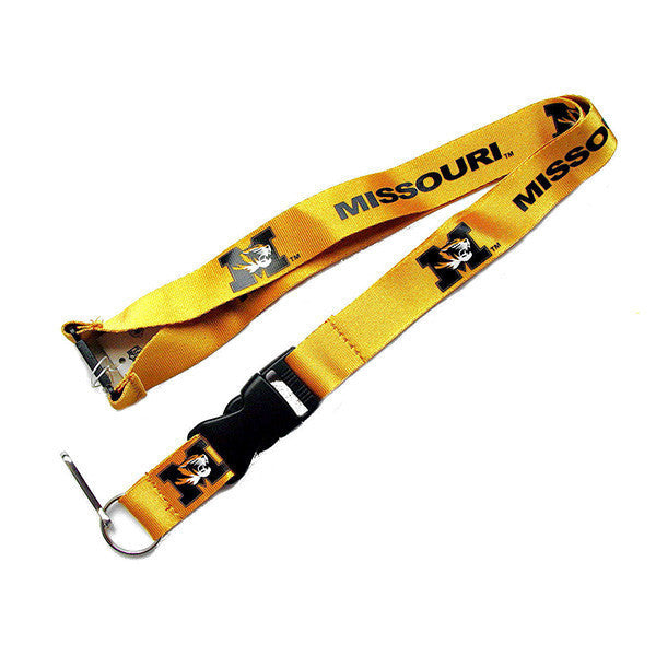 Missouri Tigers Lanyard - Detachable Keychain