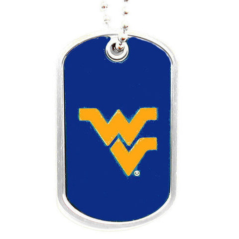 West Virginia Mountaineers Dog Tag Necklace